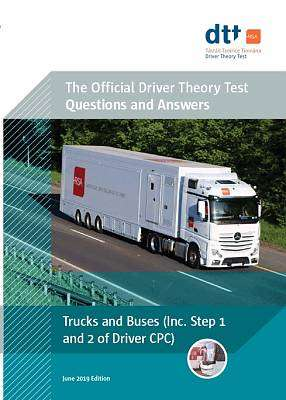 Cover of Official Driver Theory Test 9th ed Trucks and Buses Book - 9781916051454