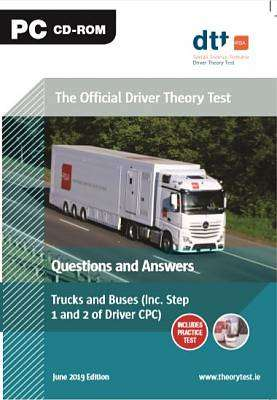 Cover of Official Driver Theory Test 9th ed Trucks and Buses CD-Rom - 9781916051461