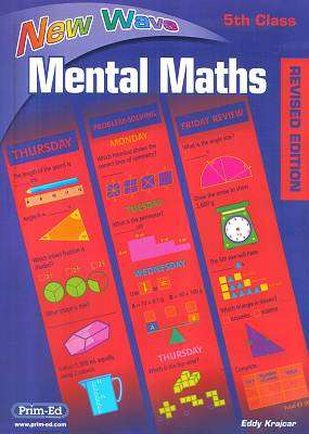 Cover of New Wave Mental Maths 5th Class - Revised 2017 - Eddy Krajcar - 9781920962432