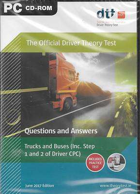 Cover of Official Driver Theory Test 8th Edition CD-Rom Trucks and Buses - Department of Transport - 9781999720261