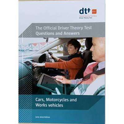 Cover of Official Driver Theory Test 9th Ed Cars, Motorcycles and Works Vehicles Book - Department of Transport - 9781999720285