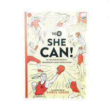 Cover of She Can! The Colouring Book for Tomorrow's Sports Fans - 9781999877491