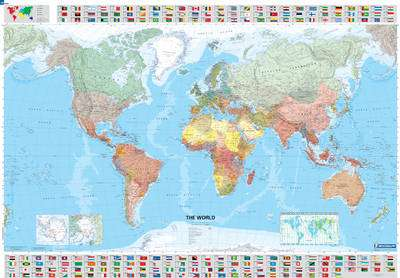 Cover of Michelin World Laminated Wall Map (1cm = 285 km) - Michelin - 9782061010716