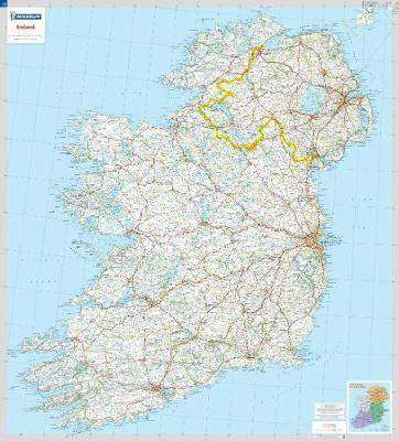 Cover of Ireland Laminated Wall Map - 5712 - Michelin - 9782067145764